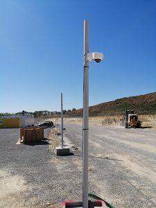 installation videosurveillance et camera sur un chantier en ile de france